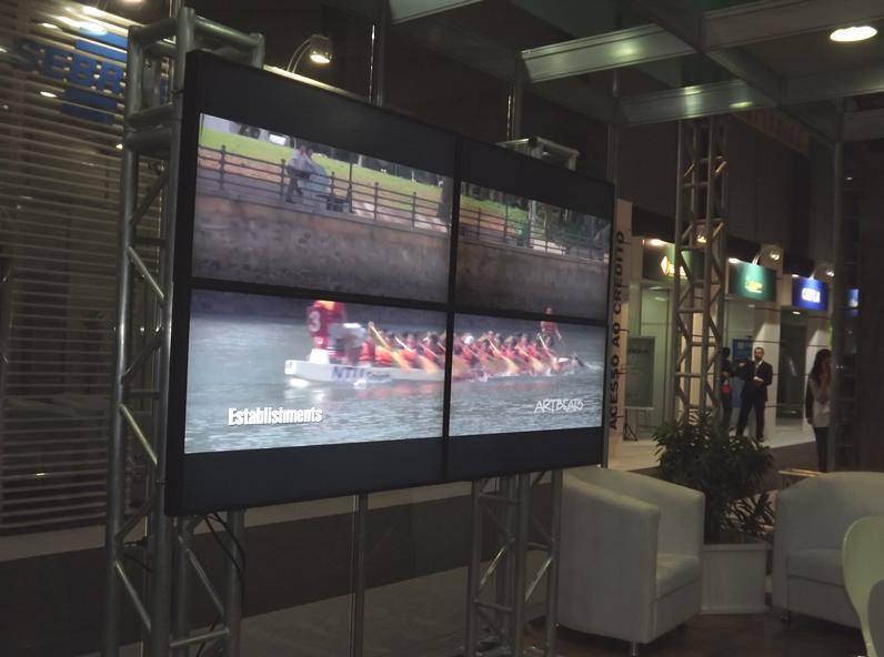 Vídeo Wall permite a exibição de imagens em múltiplas telas