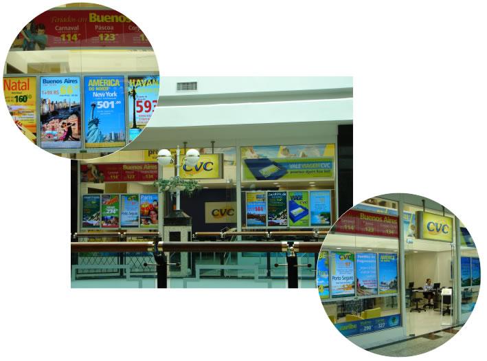 Quatro lojas da CVC utilizam sistema de vitrine digital