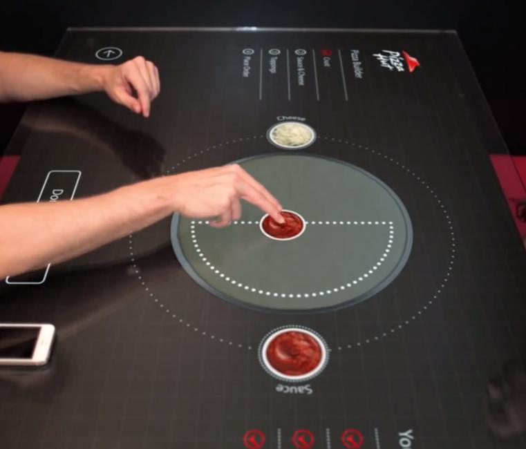 Montando seu pedido de forma interativa e touch screen